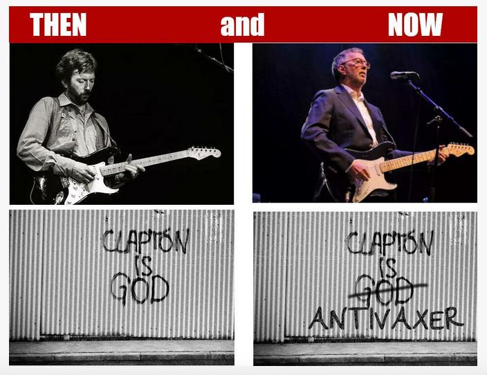 clapton god antivax