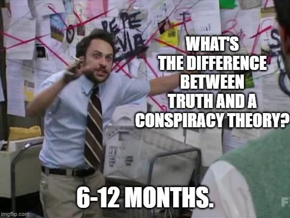 conspir theory six months
