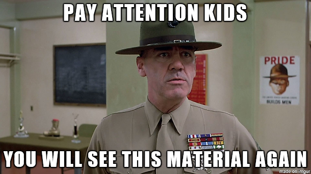 you will see this material again gunny