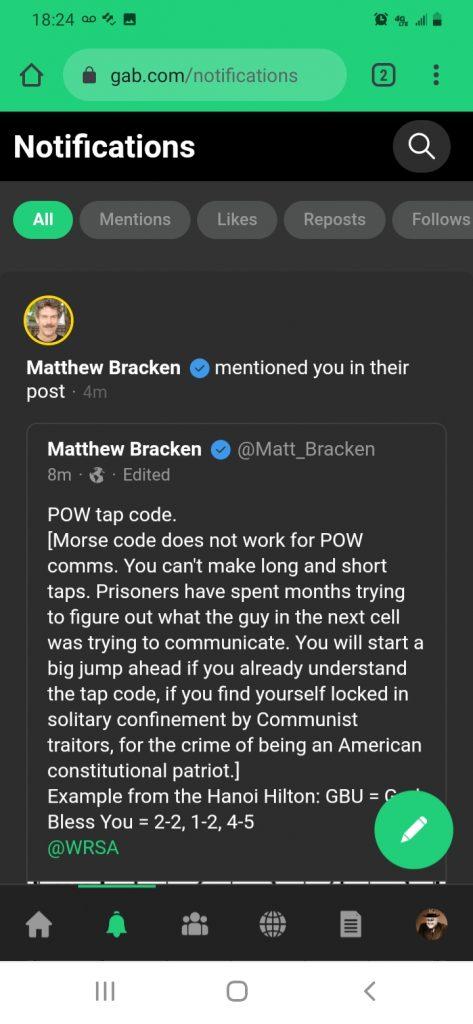Bracken Sends: Tap Codes